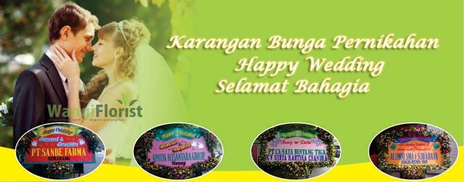 Contoh Karangan Bunga Pernikahan di Toko Bunga Surabaya...
