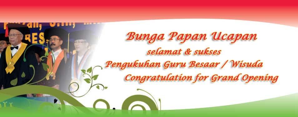 Contoh Bunga Papan Ucapan Selamat & Sukses di Toko Bunga Surabaya...